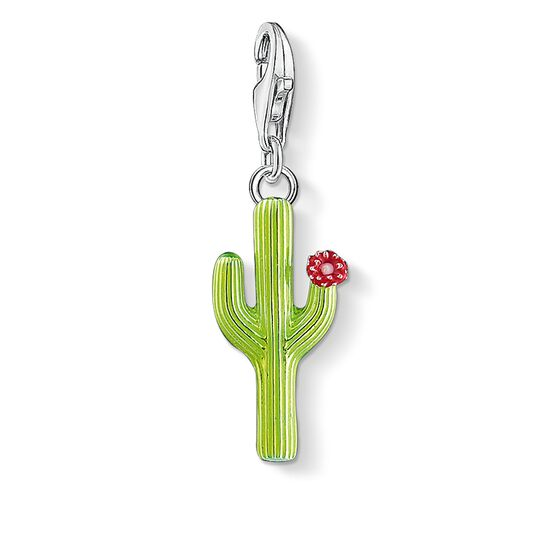 "Charm pendant ""green cactus with flower"" from the  collection in the THOMAS SABO online store"