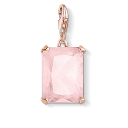 charm pendant large pink stone from the Charm Club Collection collection in the THOMAS SABO online store