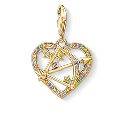 Charm pendant Cupid's Arrow, gold from the Glam & Soul collection in the THOMAS SABO online store
