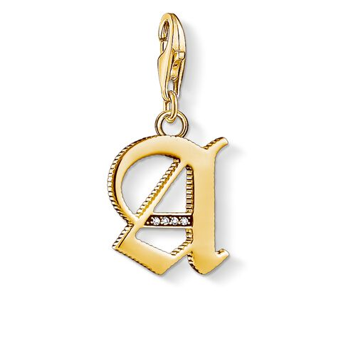 """Charm pendant """"letter A gold"""" from the  collection in the THOMAS SABO online store"""