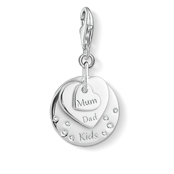 "ciondolo Charm ""cuori MUM, DAD, KIDS"" from the  collection in the THOMAS SABO online store"