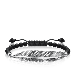 "bracelet ""feather"" from the Love Bridge collection in the THOMAS SABO online store"