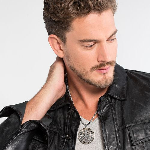 """pendant """"diamond skull"""" from the Rebel at heart collection in the THOMAS SABO online store"""