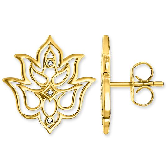 "ear studs ""Lotus flower ornamentation"" from the Glam & Soul collection in the THOMAS SABO online store"