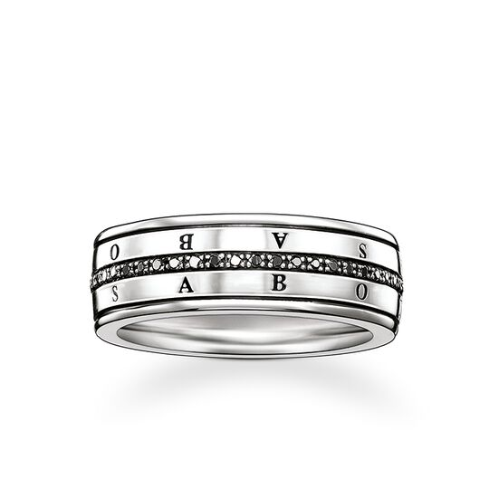 bague Eternity diamants noirs de la collection Rebel at heart dans la boutique en ligne de THOMAS SABO