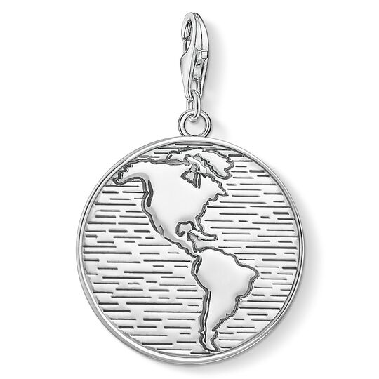 Charm pendant disc world from the Charm Club collection in the THOMAS SABO online store