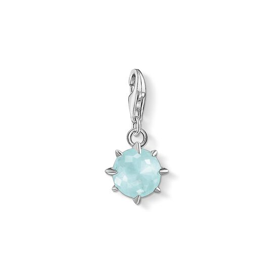 Charm pendant birth stone March from the Charm Club collection in the THOMAS SABO online store