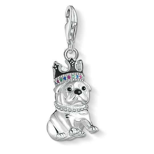 Charm pendant Bulldog with crown from the  collection in the THOMAS SABO online store