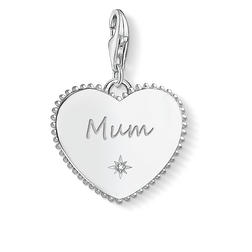 "Charm pendant ""Heart mum silver"" from the  collection in the THOMAS SABO online store"
