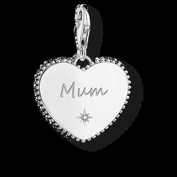 """pendentif Charm """"cœur Mum argent"""" de la collection  dans la boutique en ligne de THOMAS SABO"""