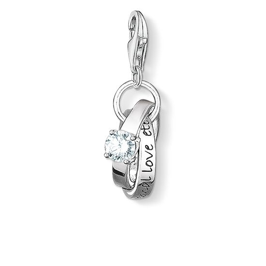 "Charm pendant ""wedding rings"" from the  collection in the THOMAS SABO online store"