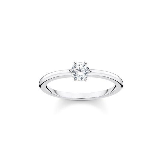 Ring weißer Stein silber aus der Charming Collection Kollektion im Online Shop von THOMAS SABO