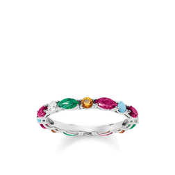 "bague ""Pierres multicolores"" de la collection Glam & Soul dans la boutique en ligne de THOMAS SABO"