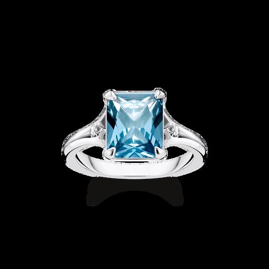 Ring blauer Stein mit Mond & Stern aus der Glam & Soul Kollektion im Online Shop von THOMAS SABO