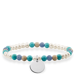 bracelet blue, white coin from the Love Bridge collection in the THOMAS SABO online store