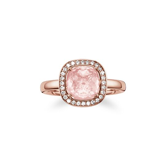 solitair ring pink from the  collection in the THOMAS SABO online store
