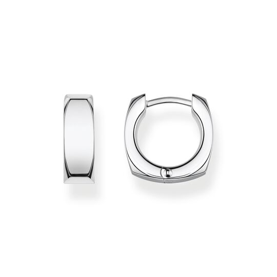 hoop earrings Minimalist silver from the  collection in the THOMAS SABO online store