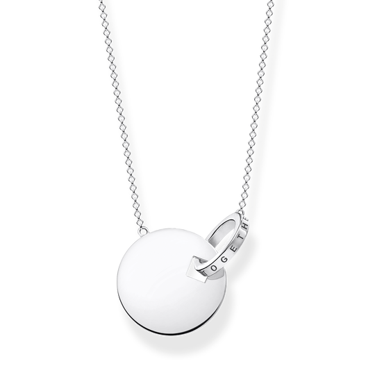 necklace Together coin with silver-coloured ring from the Glam & Soul collection in the THOMAS SABO online store