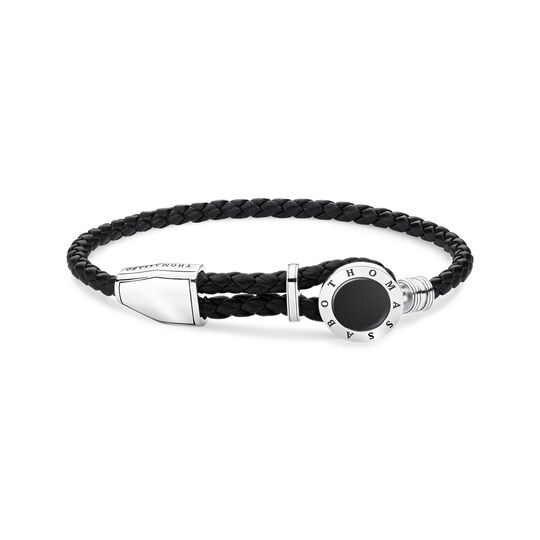 leather strap disc black from the Rebel at heart collection in the THOMAS SABO online store