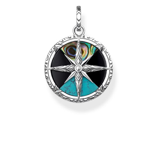 pendant compass small from the Rebel at heart collection in the THOMAS SABO online store