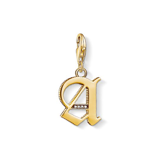 Charm-Anhänger Buchstabe A gold aus der Charm Club Kollektion im Online Shop von THOMAS SABO