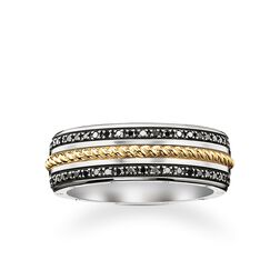 band ring black diamond from the Rebel at heart collection in the THOMAS SABO online store