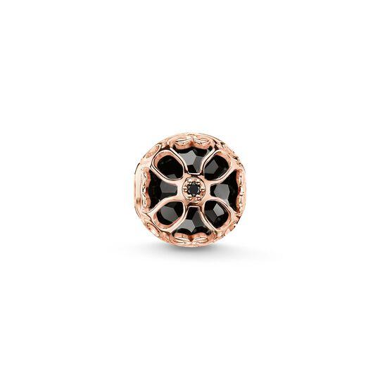 Bead fleur de lotus noire de la collection Karma Beads dans la boutique en ligne de THOMAS SABO
