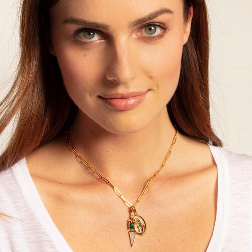 """Charm pendant """"Ethnic gold"""" from the  collection in the THOMAS SABO online store"""