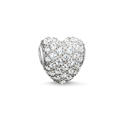 "Bead ""white pavé heart"" from the Karma Beads collection in the THOMAS SABO online store"