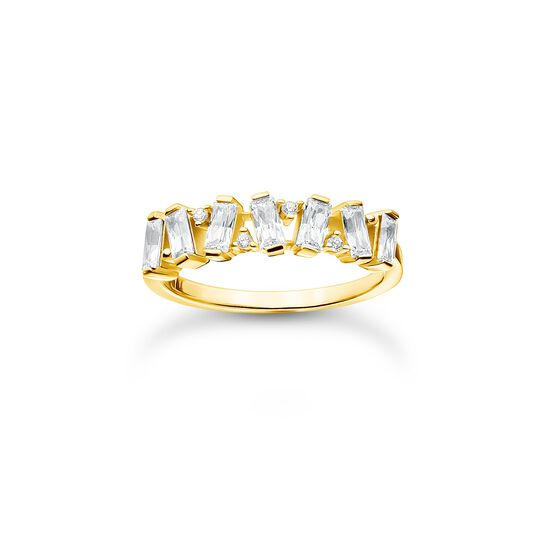 Ring white stones gold from the Charming Collection collection in the THOMAS SABO online store