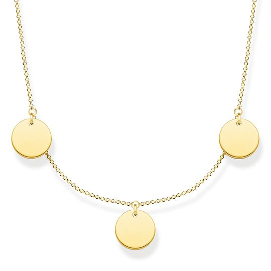 Necklace wih three discs gold from the  collection in the THOMAS SABO online store