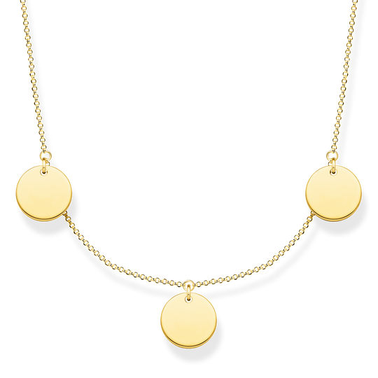 Necklace wih three discs gold from the Glam & Soul collection in the THOMAS SABO online store