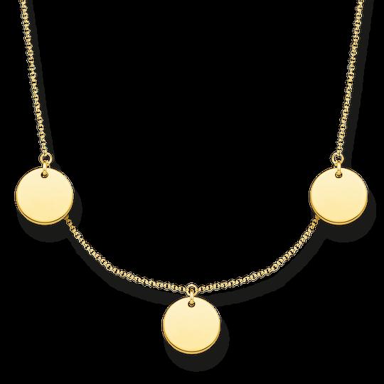 Kette mit drei Coins gold aus der Glam & Soul Kollektion im Online Shop von THOMAS SABO