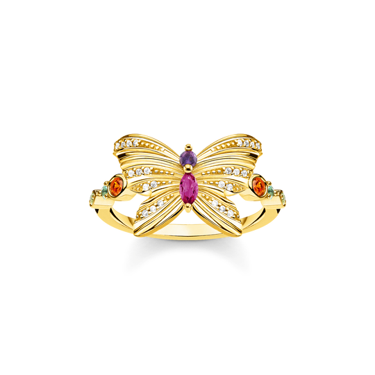 ring butterfly gold from the Glam & Soul collection in the THOMAS SABO online store