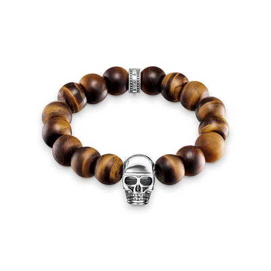 """pulsera """"Power Bracelet calavera marrón"""" de la colección Rebel at heart en la tienda online de THOMAS SABO"""