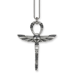 "necklace ""cross of life ankh with scarab"" from the Glam & Soul collection in the THOMAS SABO online store"