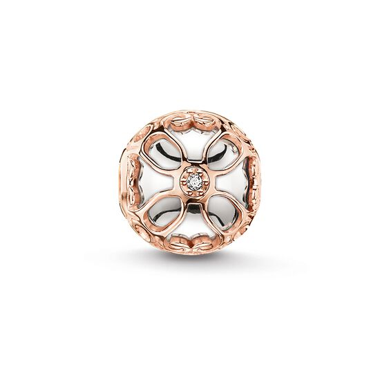 """Bead """"lotus flower"""" from the Karma Beads collection in the THOMAS SABO online store"""