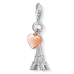 Charm pendant Eiffel Tower with heart from the Charm Club Collection collection in the THOMAS SABO online store