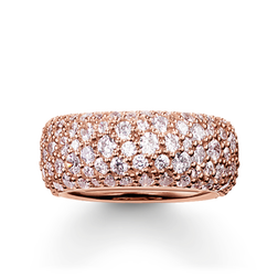 """band ring """"crushed pavé"""" from the Glam & Soul collection in the THOMAS SABO online store"""