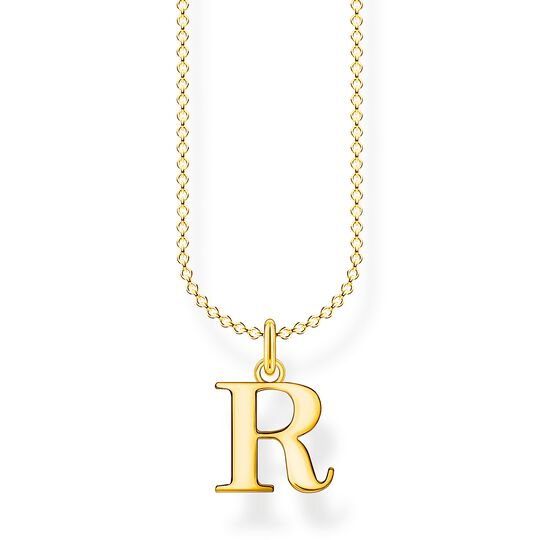 Necklace letter R gold from the Charming Collection collection in the THOMAS SABO online store