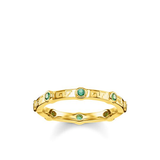 ring green stone from the Glam & Soul collection in the THOMAS SABO online store