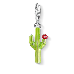 Charm pendant green cactus with flower from the  collection in the THOMAS SABO online store