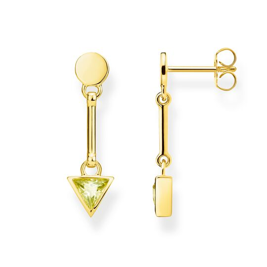 earrings green triangle from the Glam & Soul collection in the THOMAS SABO online store