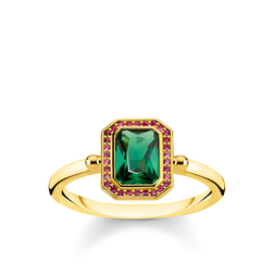 ring Red & green stones, gold from the Glam & Soul collection in the THOMAS SABO online store