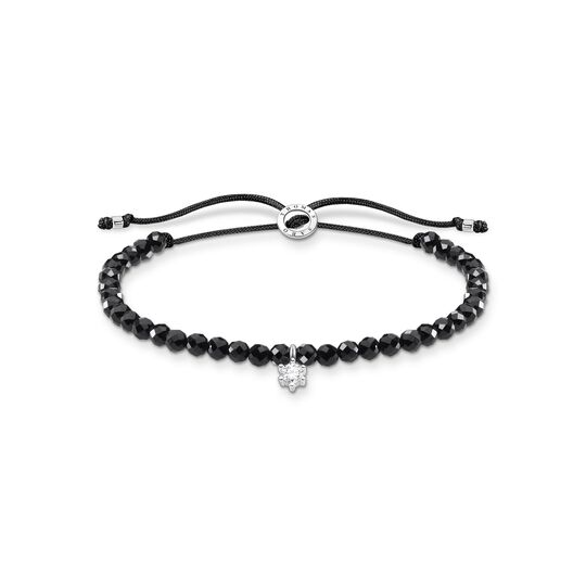 Bracelet black pearls with white stone from the Charming Collection collection in the THOMAS SABO online store