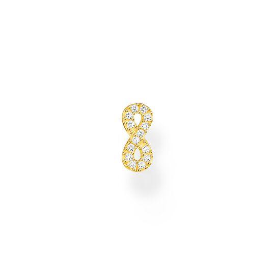 Pendiente de botón infinity oro de la colección Charming Collection en la tienda online de THOMAS SABO