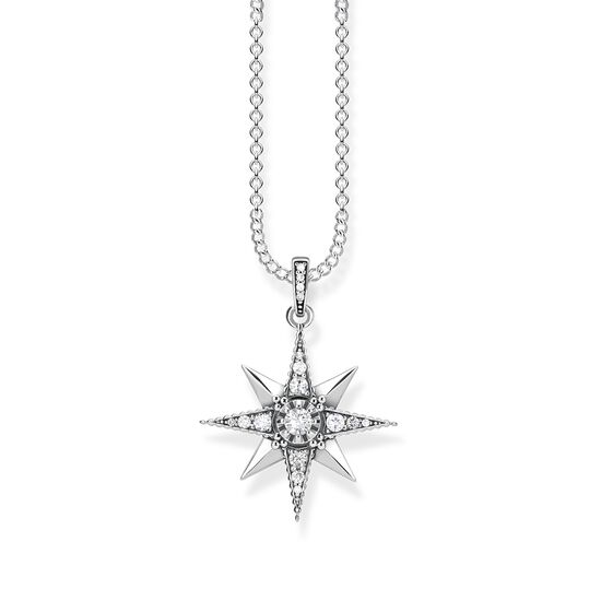 TS Short Silver Star Necklace