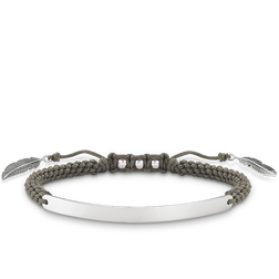"""bracelet """"grey feather"""" from the Love Bridge collection in the THOMAS SABO online store"""