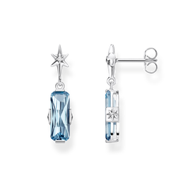 orecchini a lobo Pietra blu con stella from the Glam & Soul collection in the THOMAS SABO online store