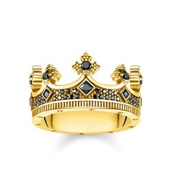 Ring Crown gold from the Rebel at heart collection in the THOMAS SABO online store